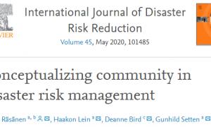 """El concepto de """"comunidad"""" en contexto de la Reducción Riesgo Desastres"""