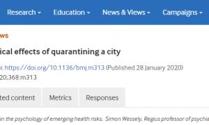 Coronavirus: los efectos psicológicos de poner en cuarentena a una ciudad